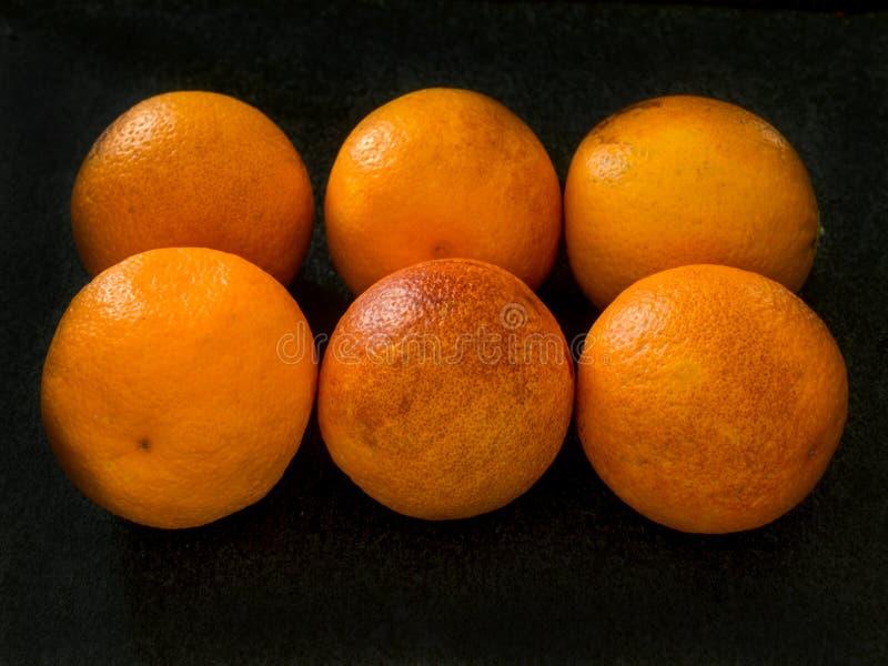 Smakliga blodapelsiner som är mogna och royaltyfri foto