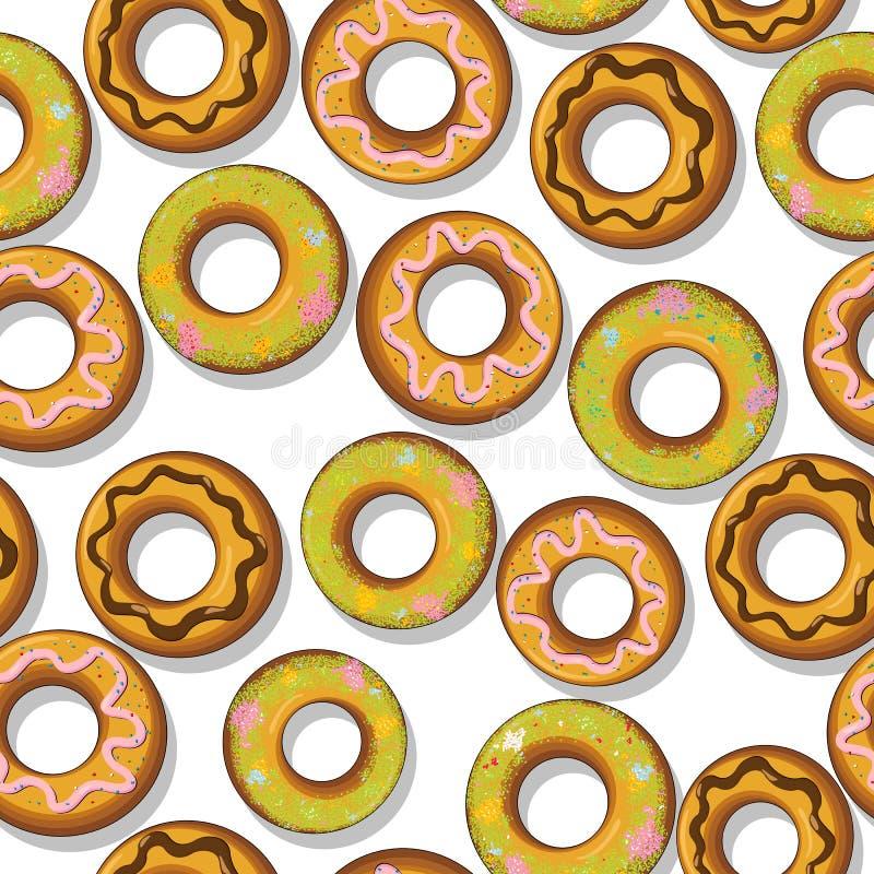 Smakliga Donuts Mönstrar Arkivfoton