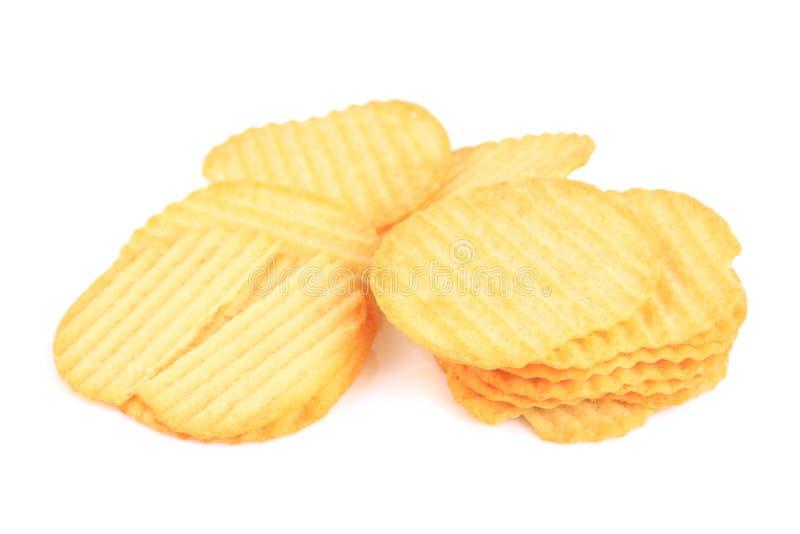 Smakliga ridged potatischiper arkivbilder