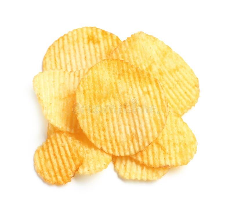 Smakliga ridged potatischiper arkivbild