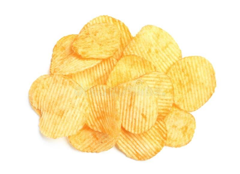 Smakliga ridged potatischiper royaltyfri foto