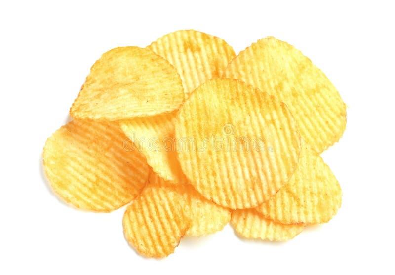 Smakliga ridged potatischiper arkivfoto