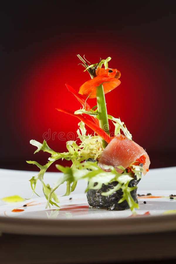Smakliga sushi royaltyfria foton