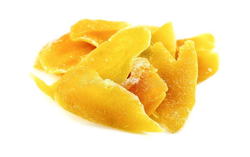 Smakliga torkade mangoskivor fotografering för bildbyråer