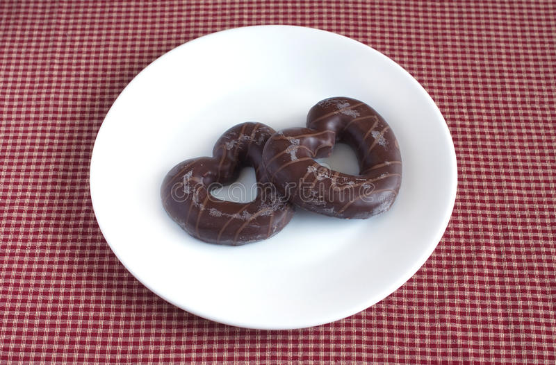 Smakliga valentin dag räknad kexchoklad royaltyfri bild