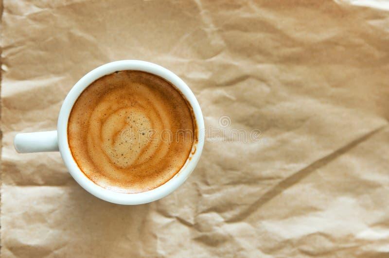 Smakligt espressokaffe royaltyfria bilder