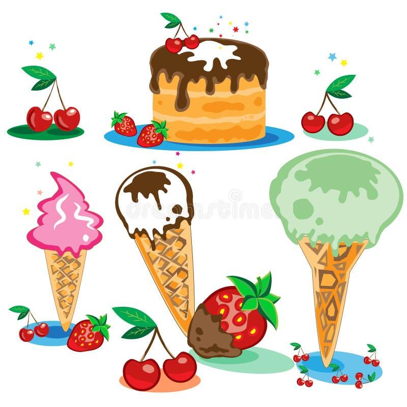 Smakligt för kräm- is för cake set