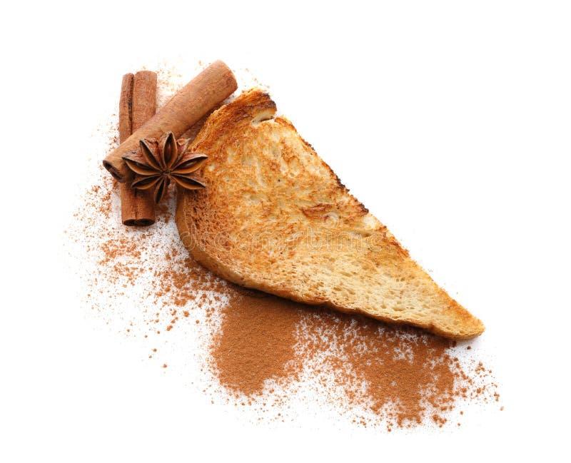 Smakligt kanelbrunt rostat bröd arkivfoton