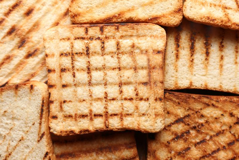 Smakligt rostat bröd, closeup royaltyfria bilder