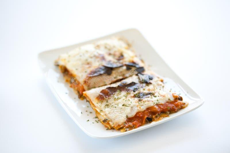 smakligt vegetal för lasagnaplatta royaltyfri foto