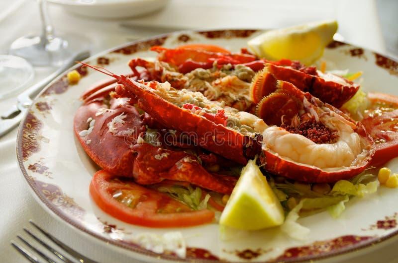 Smakosz Piec na grillu homar zdjęcia stock