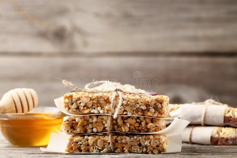 Smakowici granola bary fotografia stock