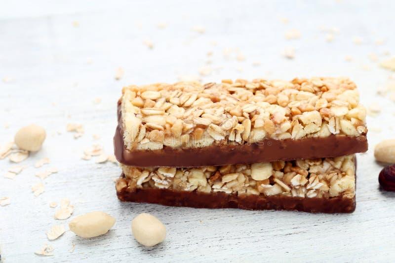 Smakowici granola bary obraz royalty free