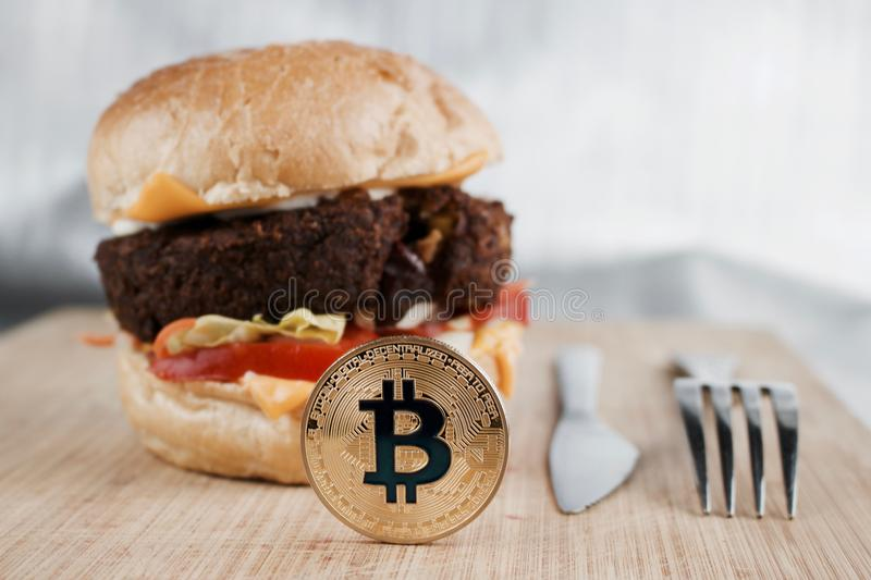 Smakowita bitcoin moneta zdjęcia royalty free