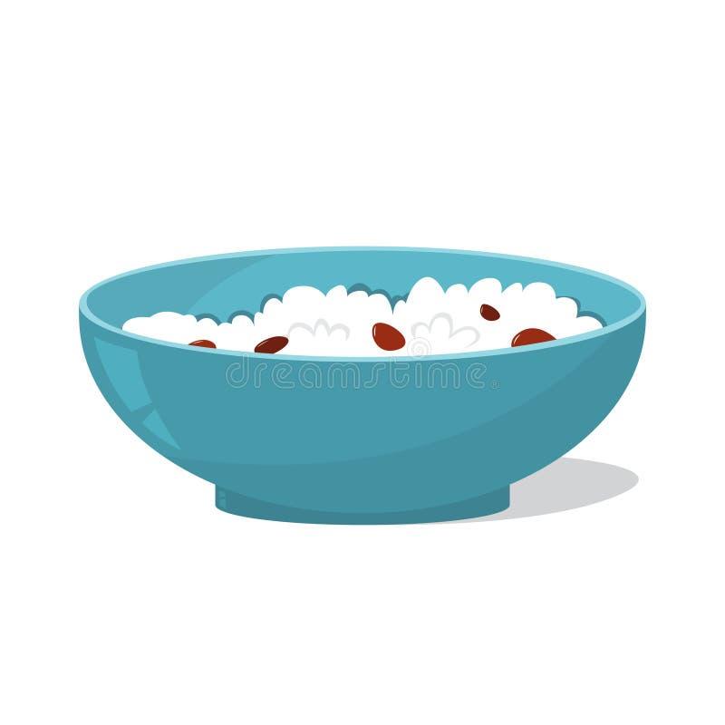 Smakowita owsianka w pucharze zdrowe śniadanie ilustracji