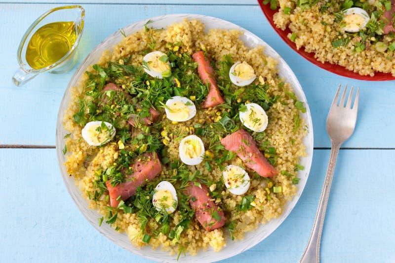 Smakowity śniadaniowy naczynia kedgeree zdjęcie stock