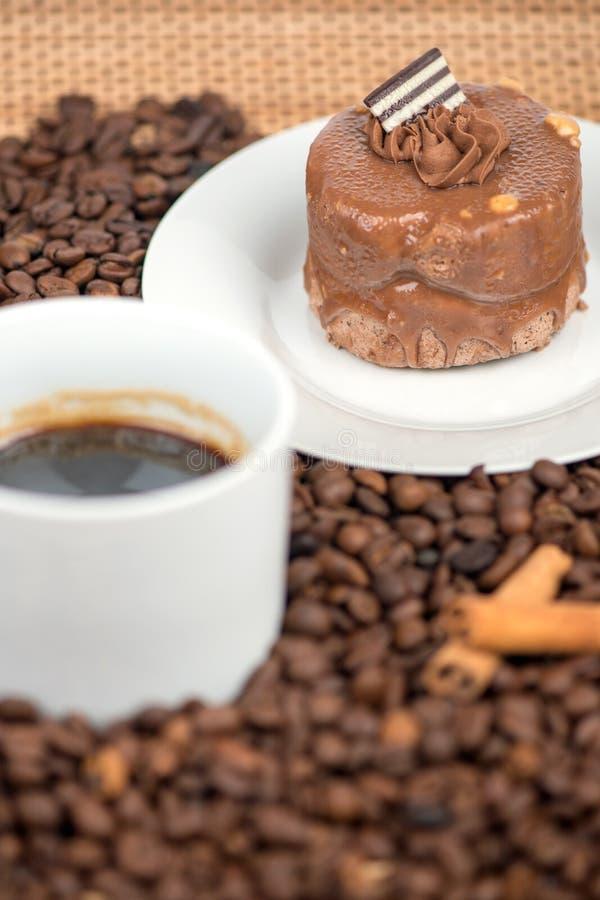 Smakowity kawowy tort obrazy stock