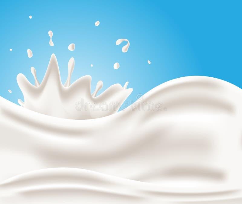 Smakowity mleko, dojny tło royalty ilustracja
