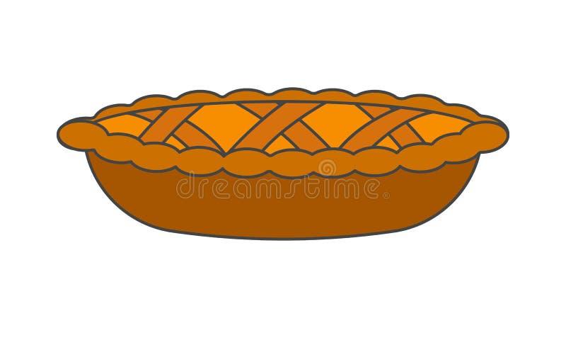 Smakowity Pasztetowy dekoraci ciasto Wyplata Realistyczną ikonę ilustracja wektor