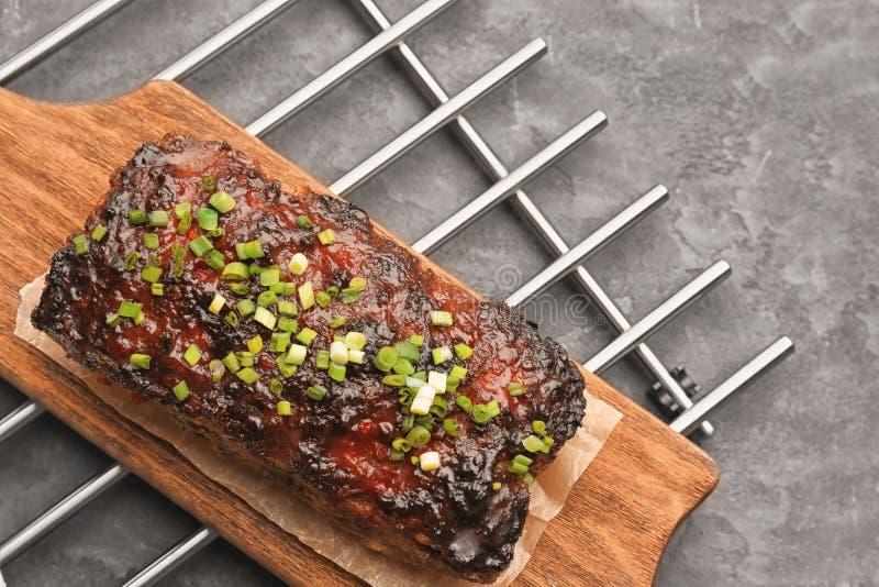 Smakowity piec indyczy meatloaf zdjęcia stock