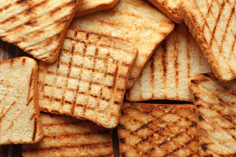 Smakowity wznosz?cy toast chleb obraz royalty free