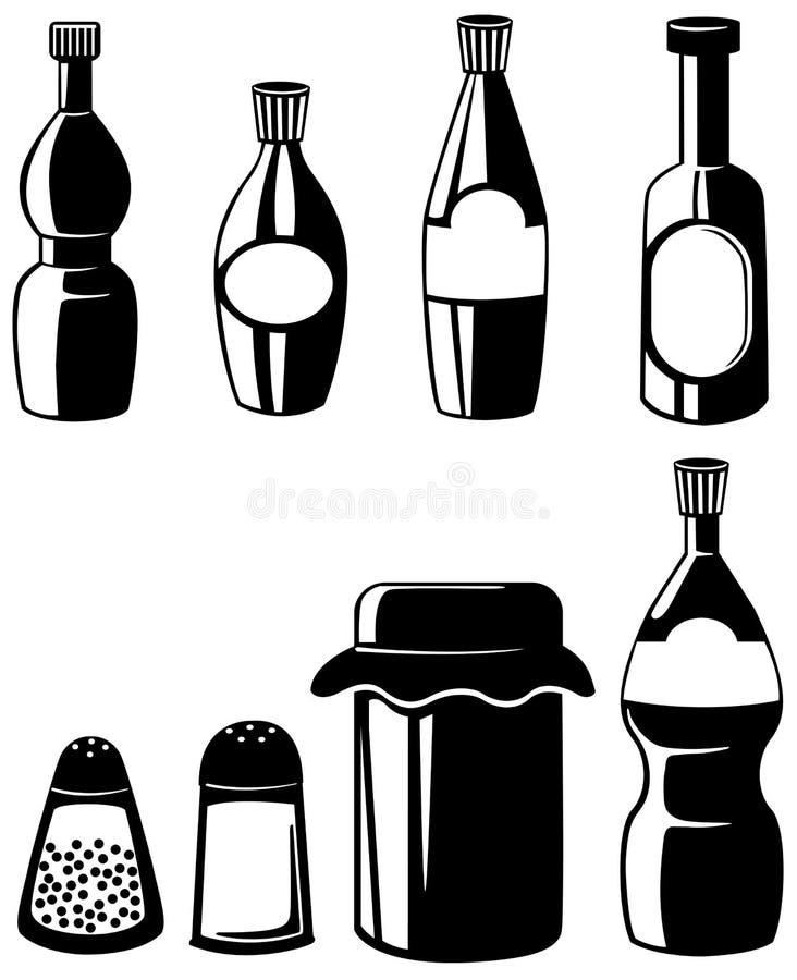 Smaktillsats stock illustrationer