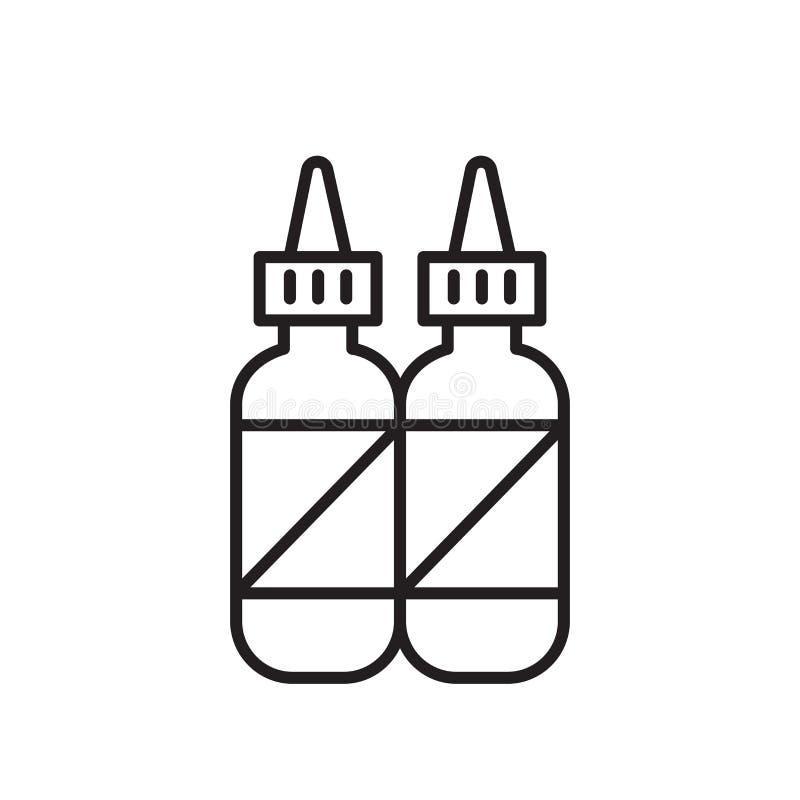 Smaktillsatssymbolsvektor som isoleras på vit bakgrund, smaktillsatstecken, tunn linje designbeståndsdelar i översiktsstil stock illustrationer