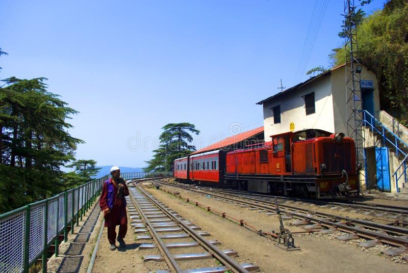 smal järnväg för gauge royaltyfria bilder