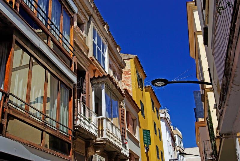 smal spansk gata arkivfoto