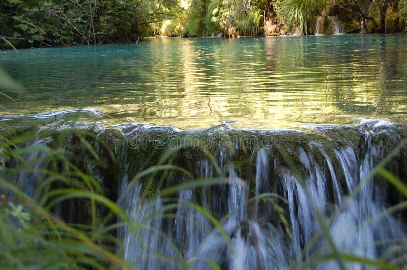 Smal vattenfall royaltyfria bilder
