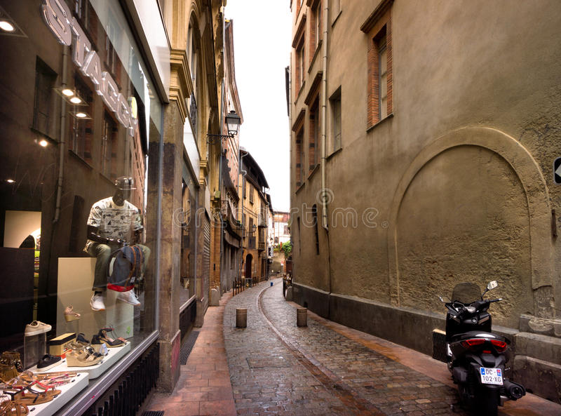 Smala gator av Toulouse royaltyfria foton