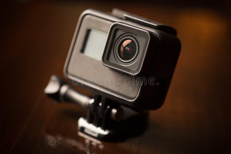 Small action camera royalty free stock photography