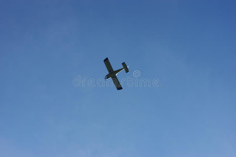 Small Aircraft. At the blue sky royalty free stock photography