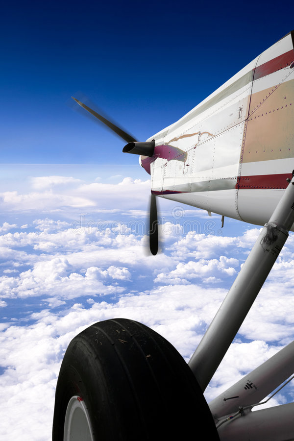 Download Small Airplane in Flight stock photo. Image of flying - 7813646