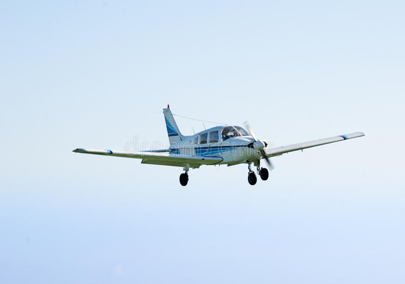 Small airplane flying royalty free stock photography