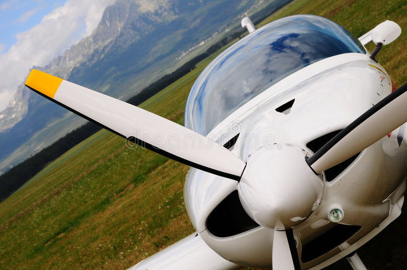 Small Airplane - Propeller Stock Image