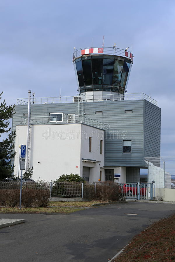 Small airport tower royalty free stock image