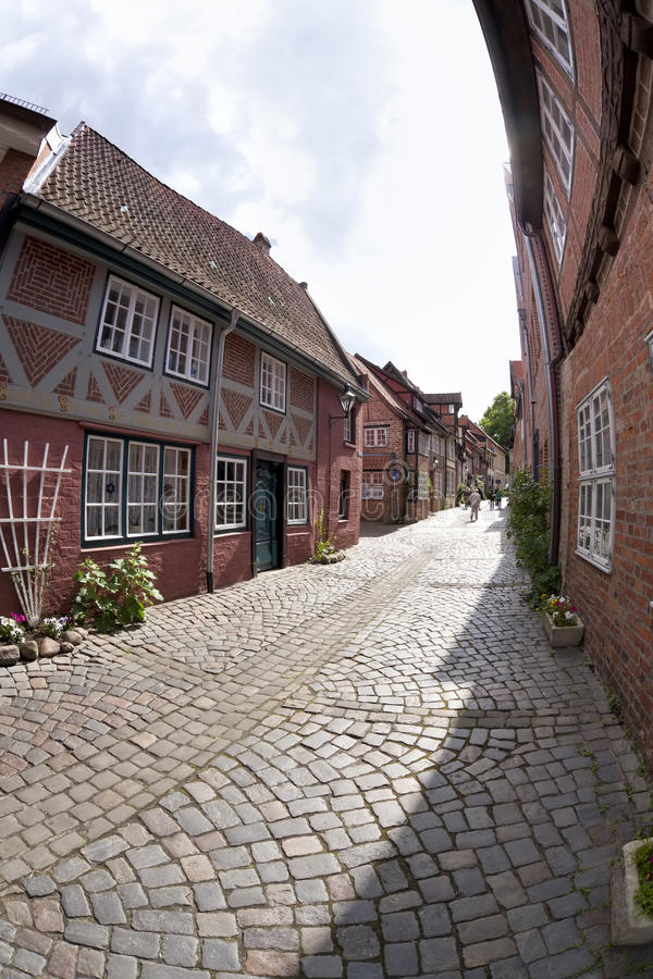 Download Small Alley At The Old Town Of Lueneburg Stock Image - Image: 25227339