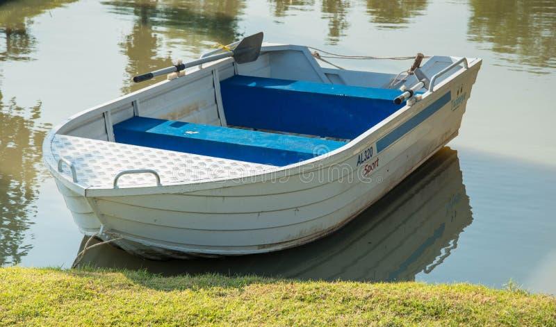 Small aluminium boats royalty free stock images