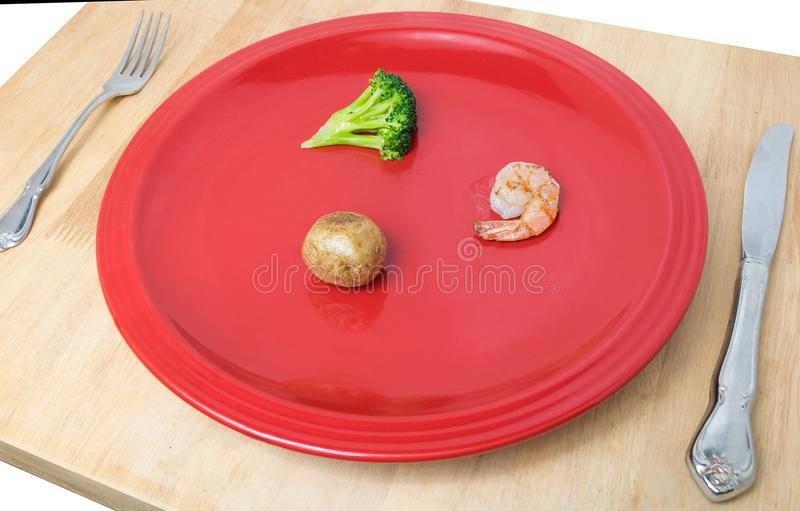 Download A Small Amount Of Food On A Dinner Plate Stock Image - Image of potato : small dinner plate - pezcame.com
