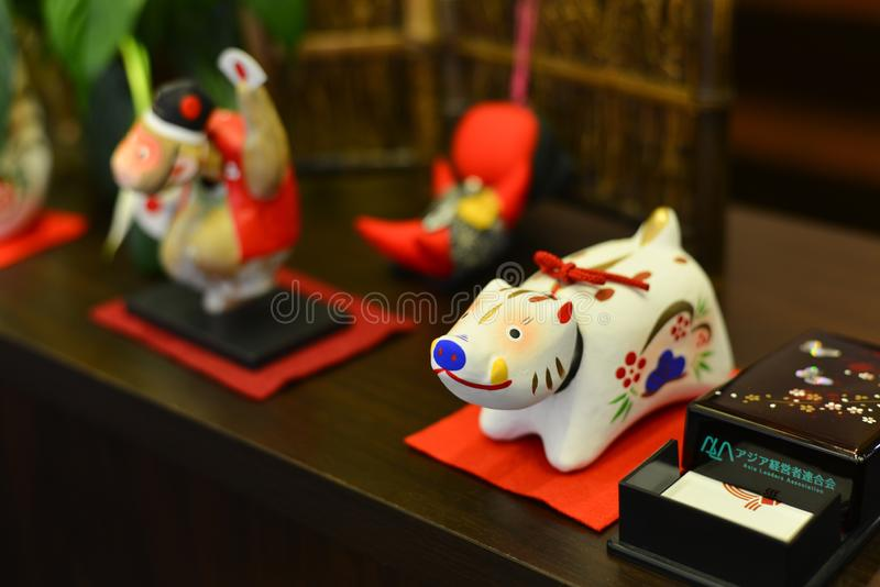 Small animal toy for decoration stock photos