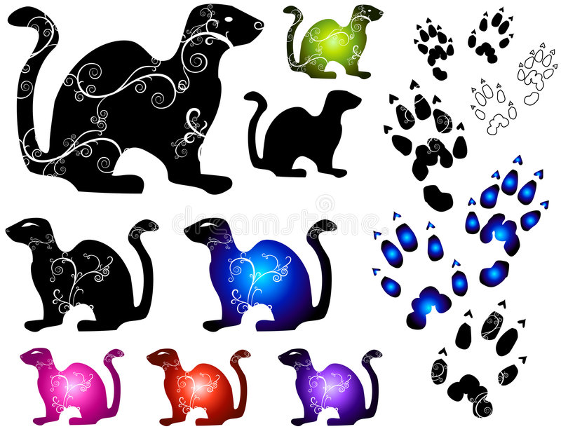 Download Small Animals [Vector] stock vector. Image of pets, attention - 1403626