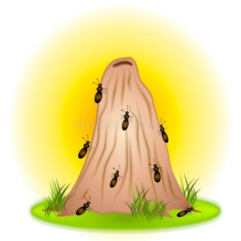Free Small Ants On Anthill Clip Art Stock Image - 2887091