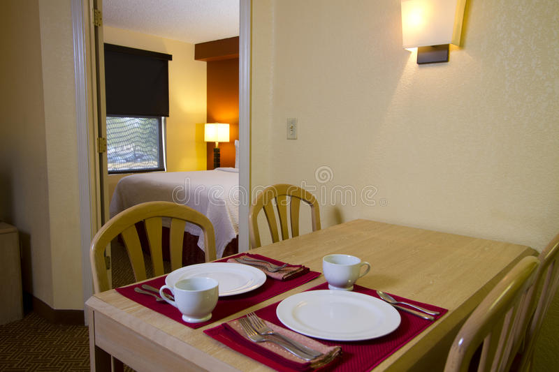 Small Apartment Kitchen Dining And Bedroom Royalty Free Stock Photo