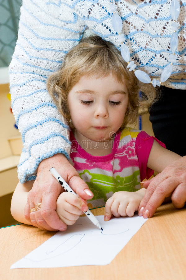 Download The Small artist. stock photo. Image of smile, happy, child - 1421822
