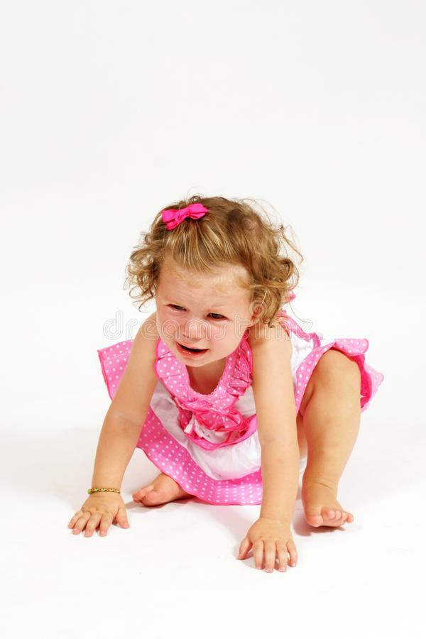Small Baby Girl Cries Stock Photography