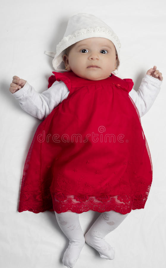 Small baby girl stock image