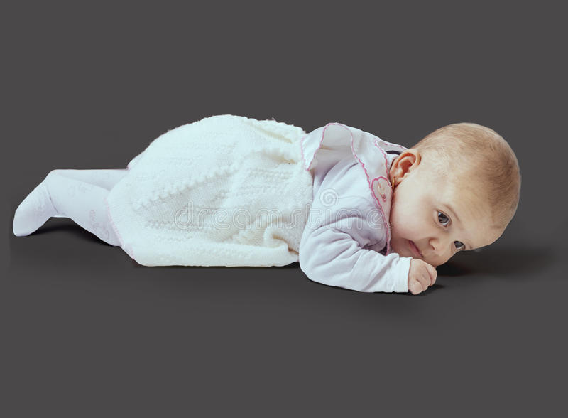 Small baby girl stock photography