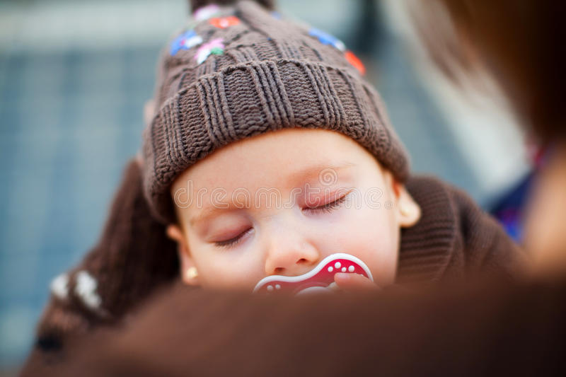 Download Sleeping in mother's arms stock photo. Image of mother - 30230178