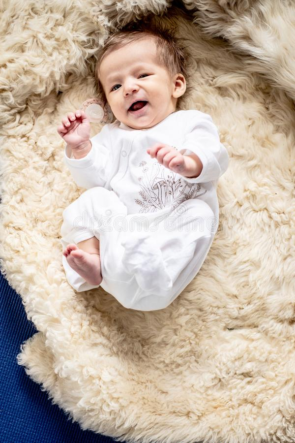 Small baby laughing stock photography